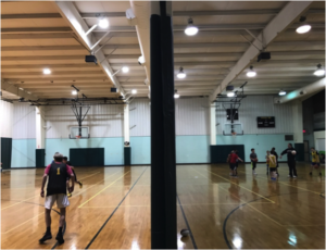 basketball gym court lighting by Culture Lighting Indianapolis