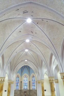 LED retrofit of historic church lighting