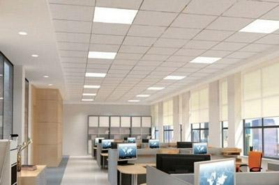 Office Ceiling With Square Led Troffers Culture Lighting
