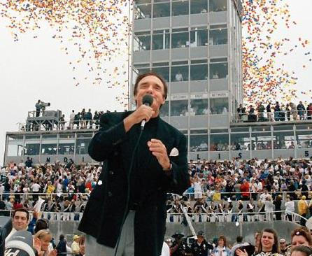 Jim Nabors singing at the Indianapolis 500 race