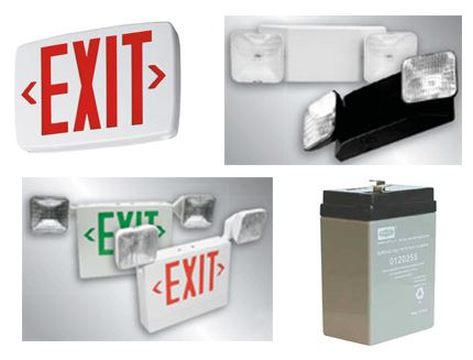 emergency and exit light montage