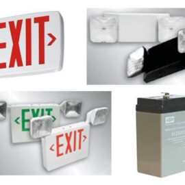 exit lights and emergency lighting