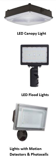 Different types of security lights