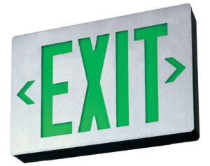 green exit light